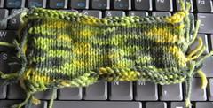 camo yarn swatch