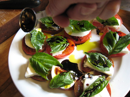 Caprese salad in the making, 1