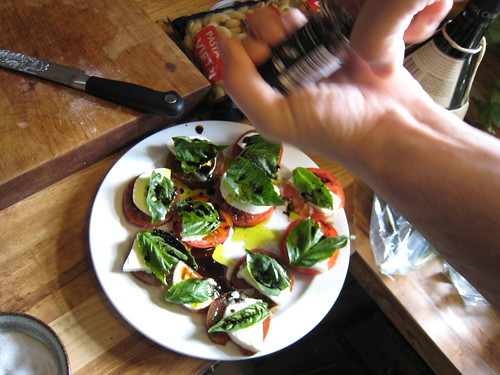 Caprese salad in the making, 3