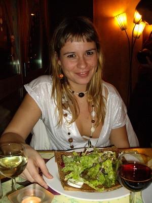 Una Galette au fromage de chèvre pour la dame!