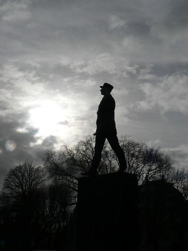De Gaulle statue on Champs Elysées
