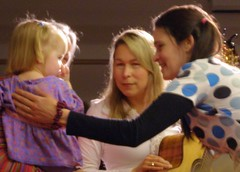 The Nields following a performance in Amherst, MA.