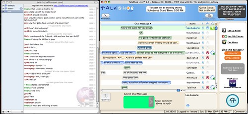 Talkshoe Chat vs IRC