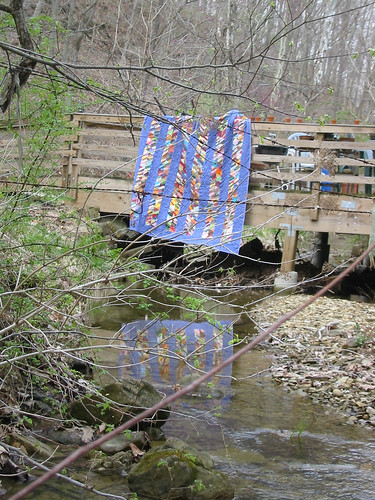 quilt on bridge
