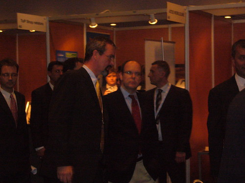 Jury member Gerhard Romen from Nokia with Albert II, Prince of Monaco