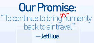 defaced jetblue logo