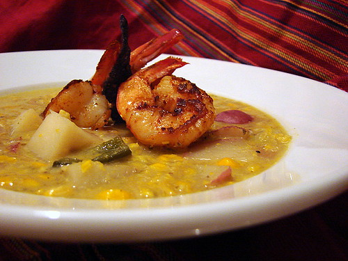 corn chowder chile shrimp