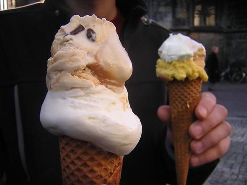 het eerste ijsje is gegeten!