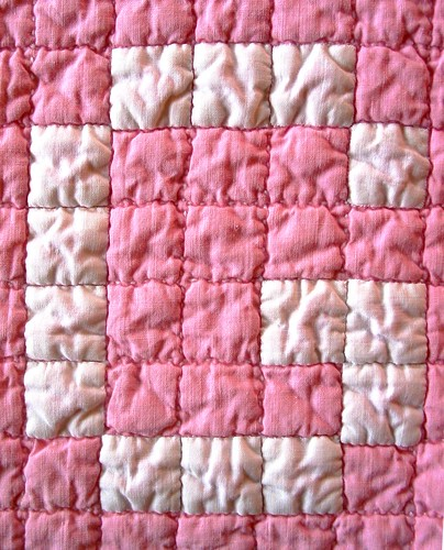 baby quilt letter detail