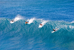 Surfers in Maui