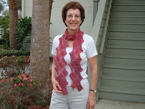 mom and scarf