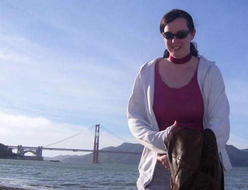 Hallie stomps bridge