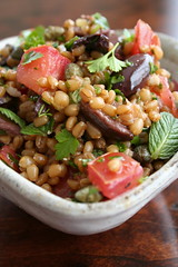 Wheat Berry Salad with Herbs, Tomatoes, and Olives