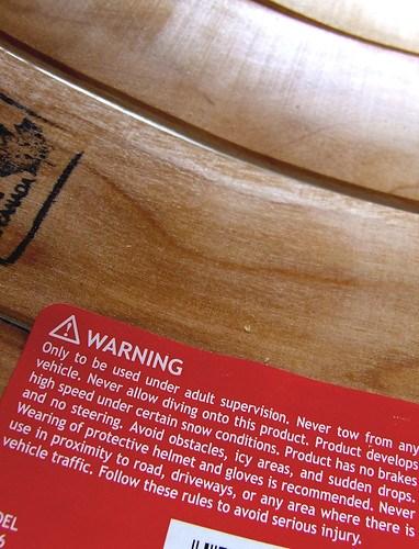 toboggan warning