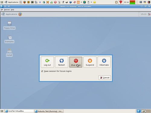 Shuttind down Xubuntu in VirtualBox