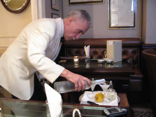 Antonio working the magic of martinis