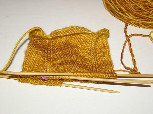 Golden Dragon Socks, 1.5 repeats