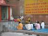 Swami and listeners, Varanasi