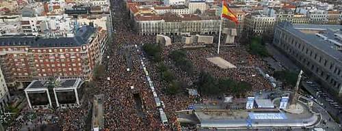 Manifestación del PP en Madrid