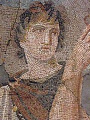 Mosaic depicting the removal of Briseis from t...