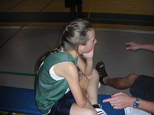 Emi getting some coaching