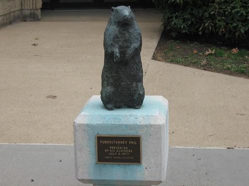 Statue of Punxsutawney Phil