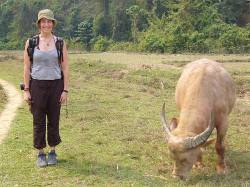 Francie & water buffalo