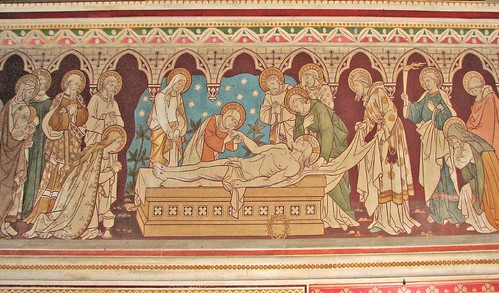 Christ laid in the tomb, by Lawrence OP
