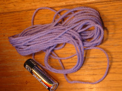 perwinkle sock yarn left