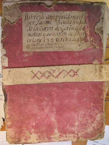 Pink cover for an account book