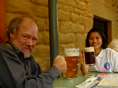 Sonya and Philip at Lowenbrau in Argyle St, The Rocks