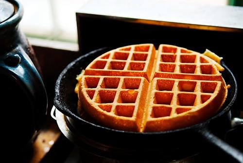 Waffles in morning light