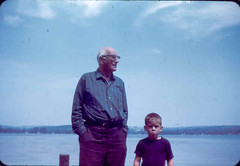 Grandpa and Scotty on Lake Chautauqua