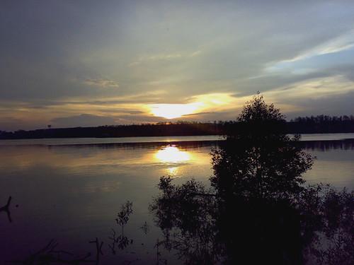 Sunset at Muar River