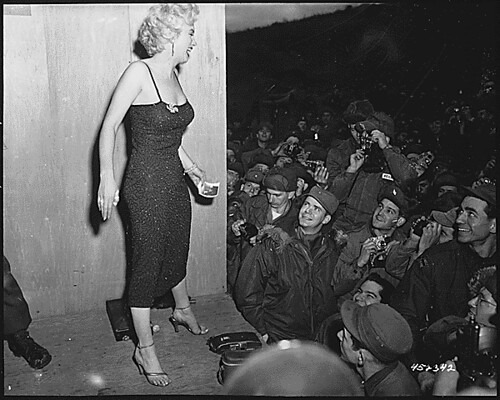 Marilyn Monroe with the Troops by Corporal Welshman, 1954.