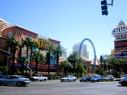 Vegas view from Sahara and Las Vegas Boulevard