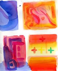 Acrylic-watercolor