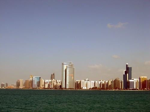 Abu Dhabi skyline in 2008