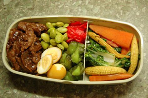 Teriyaki beef and pickles