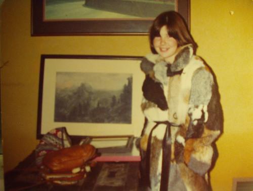 rabbit skin coat