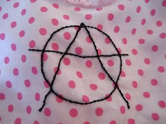 Anarchist dress stitching detail