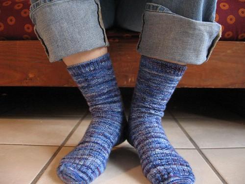 Blueberry Waffle Socks FO