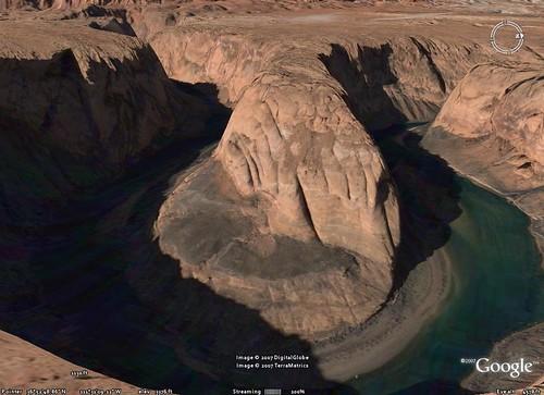Horseshoe Bend on Google Earth
