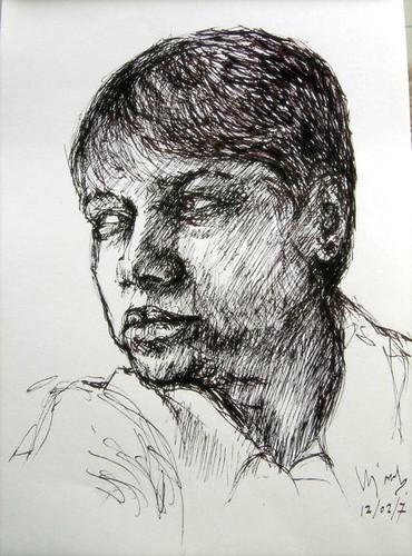 Self Portrait - Pen & Ink
