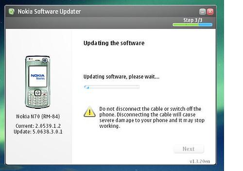 Nokia Update stalled