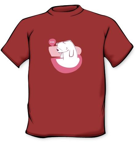 Camiseta Oso pensativo