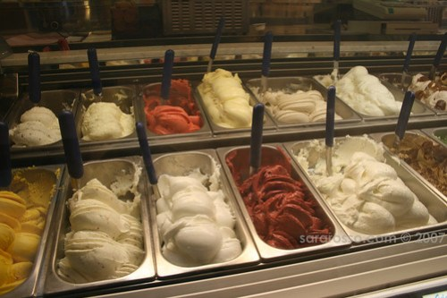 Gelato Case at Pinguino Blu