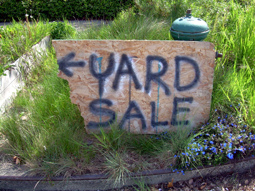 Decrepit Yard Sale Sign