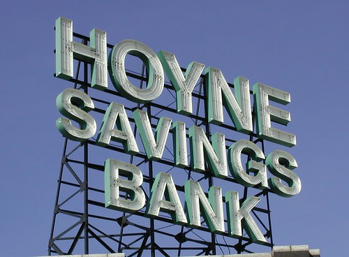 Hoyne Savings Bank Sign by pixeljones