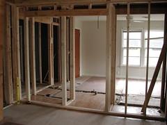Wall between office/living room